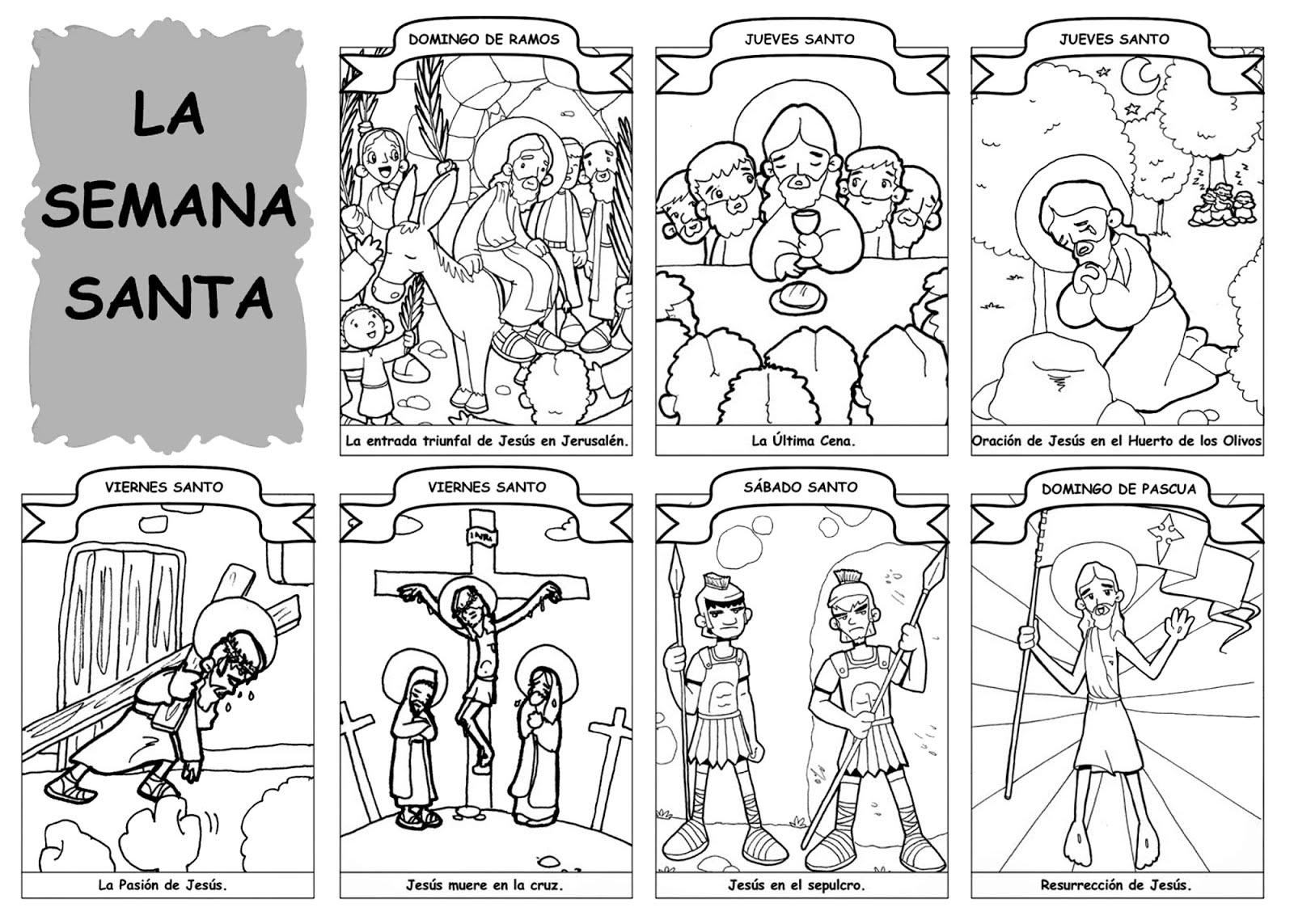 Semana Santa Para Imprimir Y Colorear En Alta Calidad Manualidades