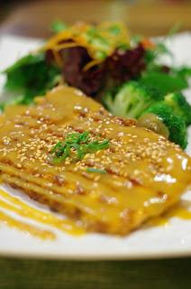 Wood Spoon Kitchen Tonkatsu (deep fried pork)