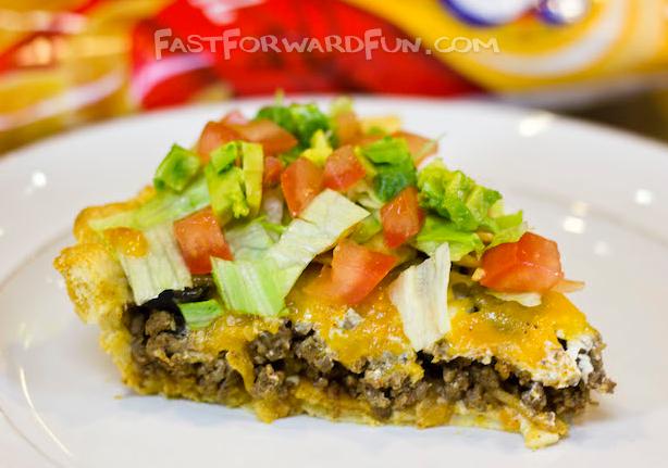 Easy Frito Taco Pie #dinner #taco
