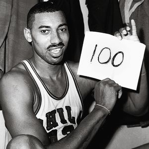 Wilt Chamberlain, 100, Philadelphia Warriors, récord.