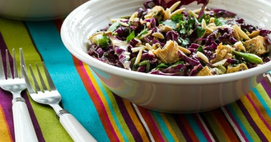 ... Red Cabbage and Chicken Asian Salad Recipe with Tangy Cilantro