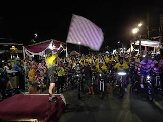 Gowes Malam Hari, Cara Polres Lumajang Meriahkan MILLENIAL ROAD SAFETY FESTIVAL