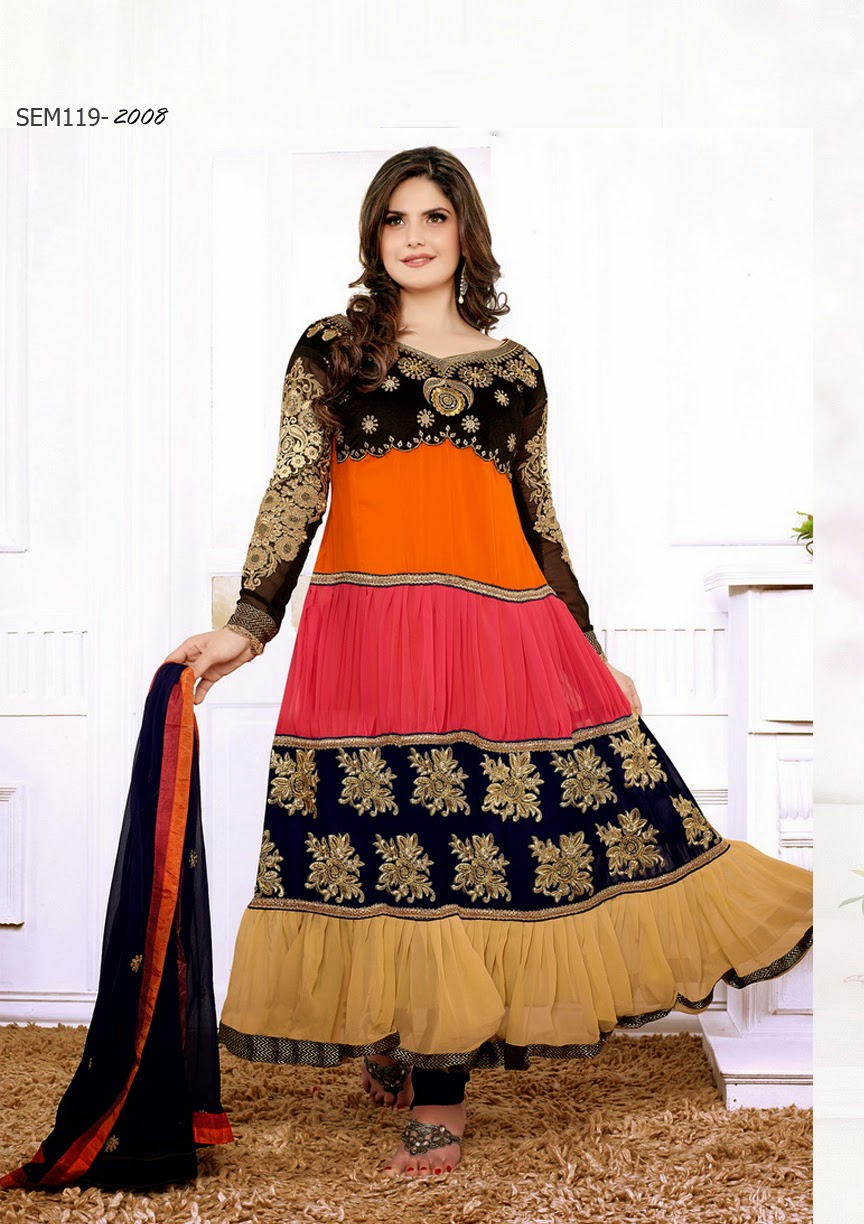 cd8704f37e Bollywood Actress Saree Collections: Buy Online Zarine Khan ...