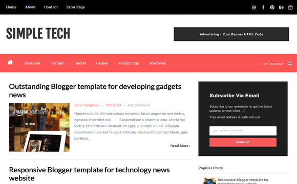Awesome List of Best Free Blogger Templates {*Check~NOW