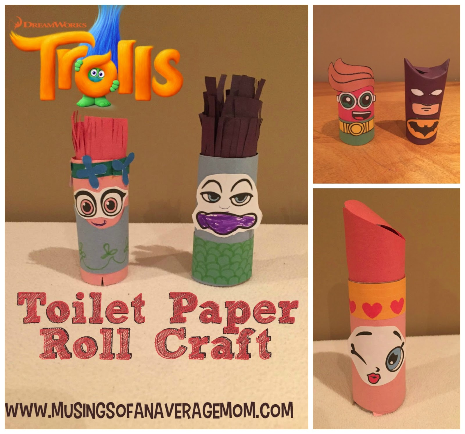 Musings of an average mom spiderman and the hulk craft for Crafts that use toilet paper rolls