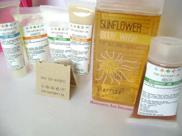 The Nature's Co. May 2015 BeautyWish Box || Holiday Primp || Review ,Price in India