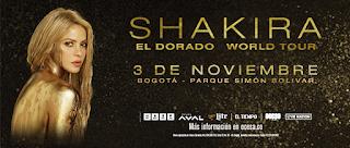 Concierto de SHAKIRA en Bogotá 2018