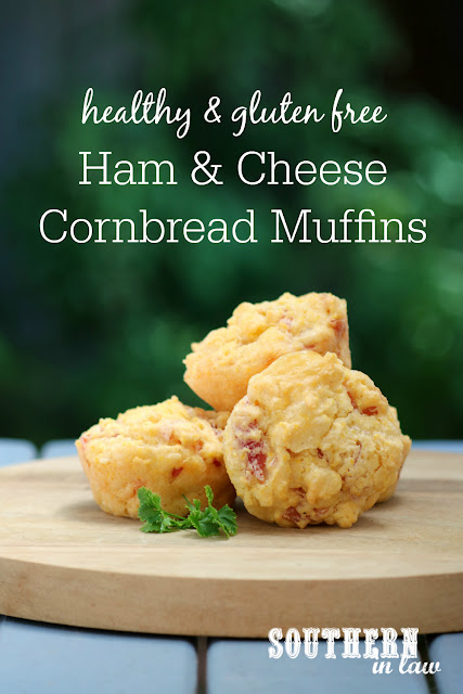 Healthy Ham and Cheese Savory Cornbread Muffins Recipe - healthy, gluten free, low fat, easy, meal prep, clean eating recipe, breakfast, lunch, dinner, breads, kid friendly