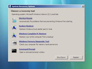 Memperbaiki windows 7 gagal booting 1