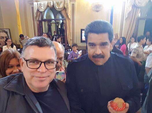 Rogério Giannini e Nicolás Maduro