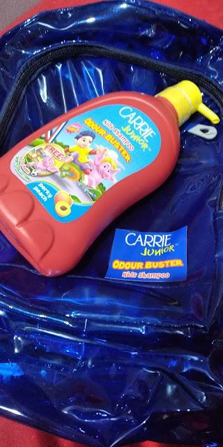 SYAMPU RAMBUT KANAK-KANAK CARRIE JUNIOR ODOUR BUSTER, carrie junior odour buster, odor buster, syampu kanak-kanak, child syampoo, kids syampoo, syampu yang sesuai untuk anak-anak, syampu wangi, syampoo rambut anak-anak, carrie junior, syampu carrie junior, review syampu carrie junior, cara menjaga rambut anak-anak, harga syampu carrie junior,