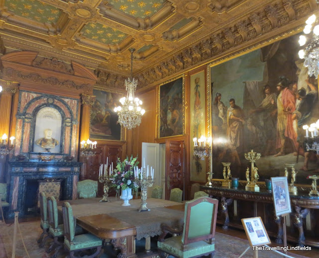 A dining room at The Elms