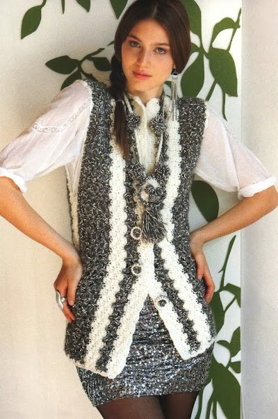 Chaleco Matizado de Crochet Patron