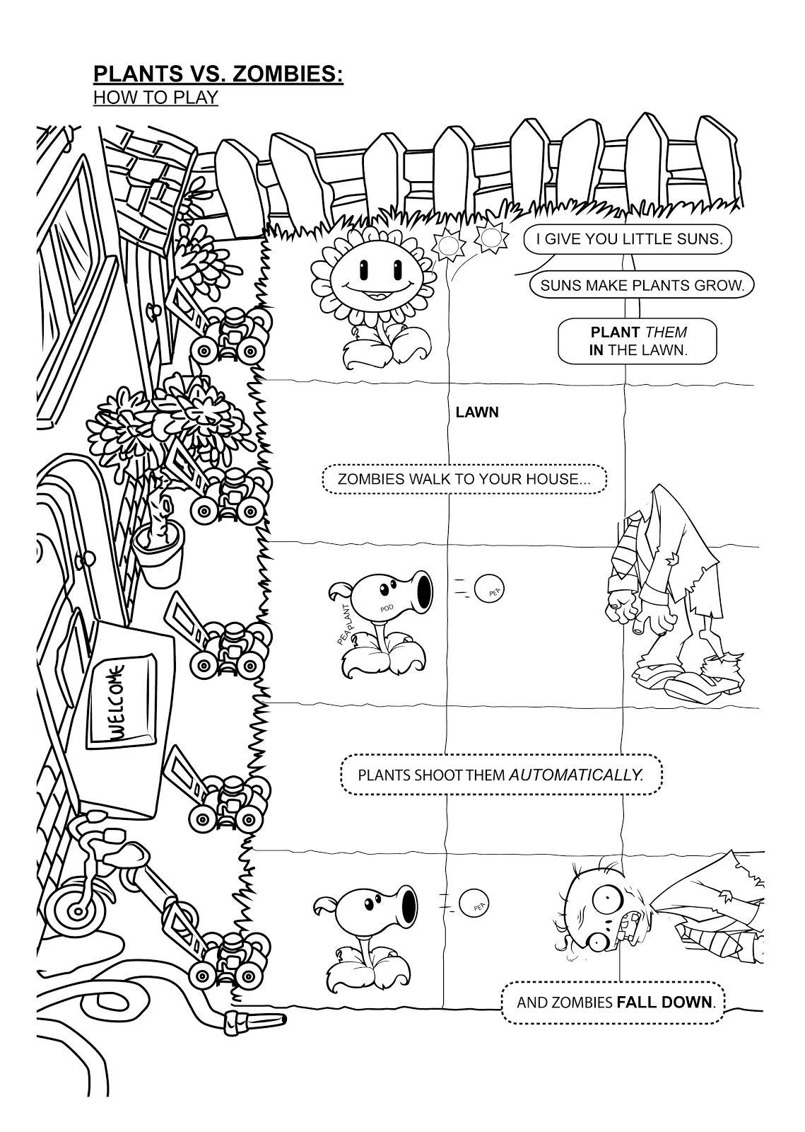 plants vs zombies 2 coloring pages - plant vs zombies squash coloring pages imagui