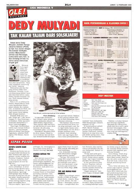 LIGA INDONESIA V PROFIL DEDY MULYADI
