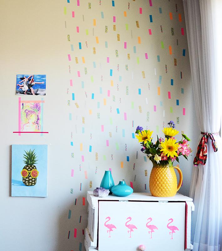 Como decorar a parede com fita adesiva de forma rápida e fácil ~ Casa Design Studio -> Decorar Parede Com Fita Adesiva