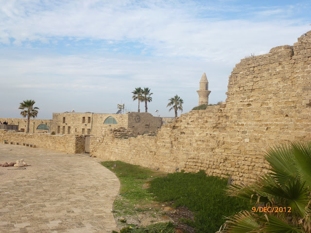 חומת אבן בקיסריה