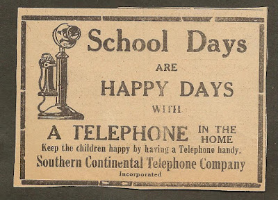 School Days are Happy Days with a Telephone in the Home