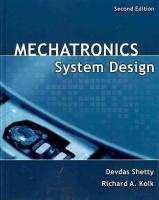 Mechatronics System Design - Devdas Shetty 2da Ed