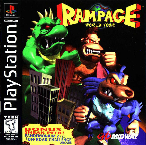 Rampage - World Tour  - PS1 - ISOs Download