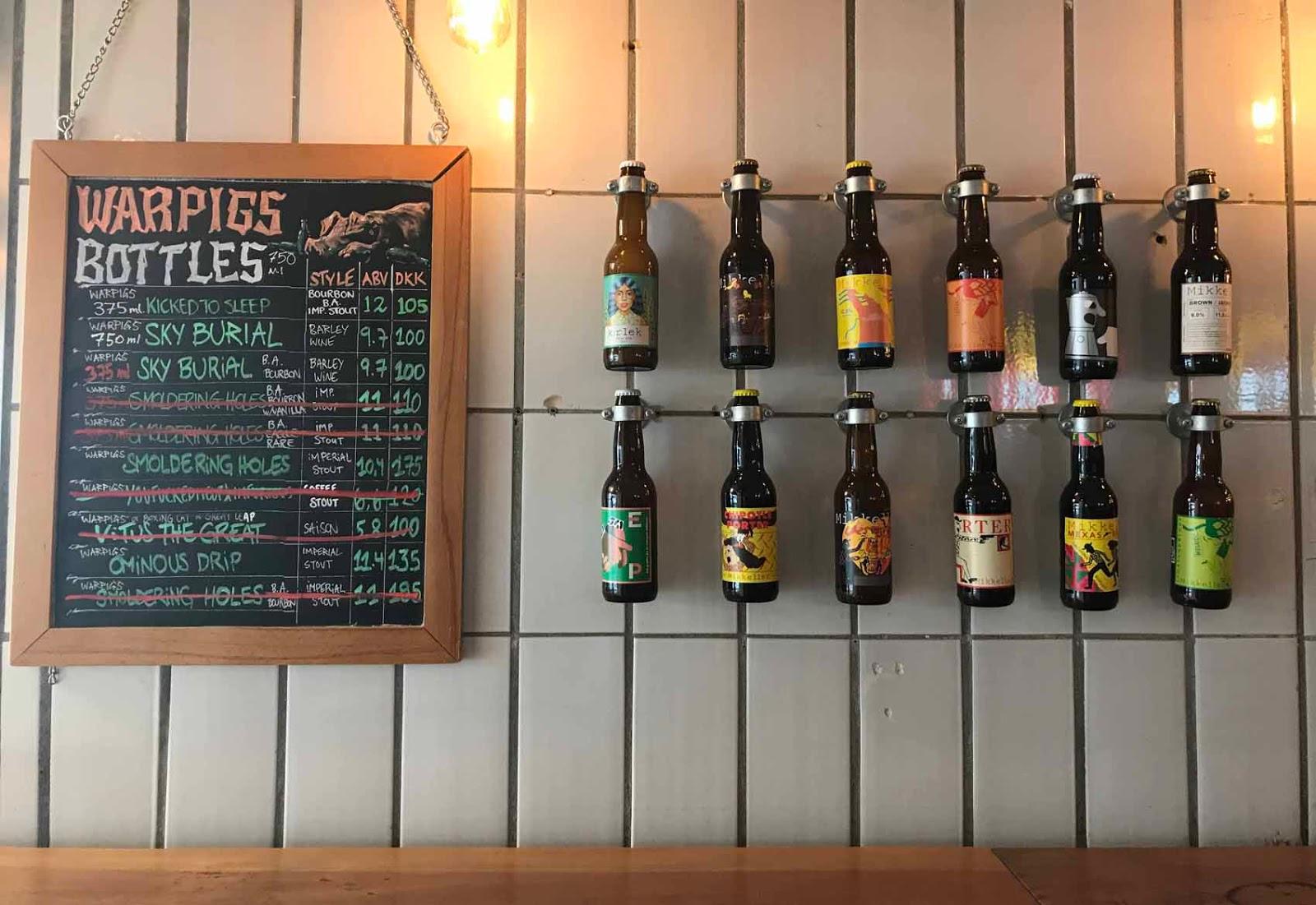 Warpigsissä on mahtava valikoima oluthipsterille