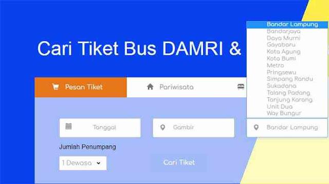 Cara Pesan Tiket Bus Damri Jakarta