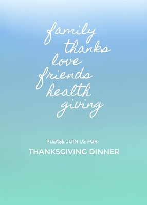 Free colorful invitations for Thanksgiving