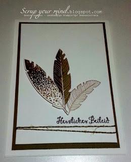 Beileid-Federn-Trauerkarte