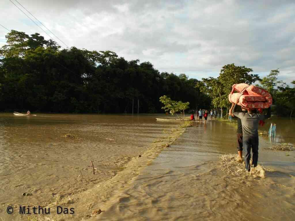 Dhansiri Golaghat inundated by flood