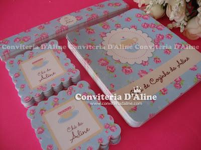 papelaria personalizada chá de cozinha provençal