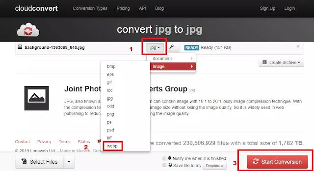 Cara Convert Menggunakan Cloudconvert