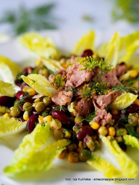 salatka z tunczykiem, warzywa konserwowe, warzywa z puszki, tunczyk, smaczna salatka, salatka na szybko, danie awaryjne