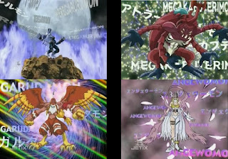 Digimon Adventure Digital Monsters Ultimate WereGarurumon MegaKabuterimon Garudamon Angewomon