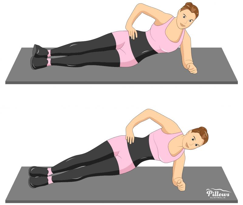 18 Easy Stretches In 18 Minutes To Help Reduce Back Pain - SIDE PLANK