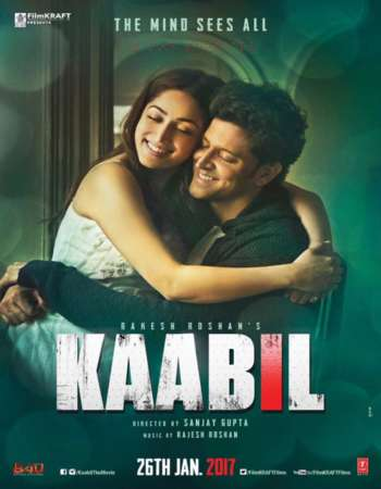 Poster Of Bollywood Movie Kaabil 2017 300MB DVDScr Full Hindi Movie
