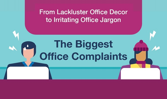 From lackluster office decor to irritating office jargon: The biggest office complaints