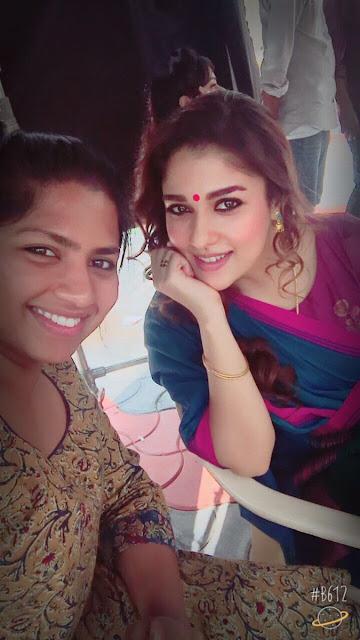 Actress Nayanthara On the sets of NBK 102 Shoot