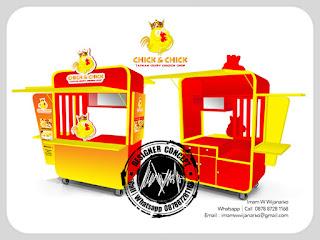 jasa produksi gerobak fried chicken