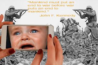 """""""Човечеството трябва да сложи край на войната, преди войната да сложи край на човечеството."""""""
