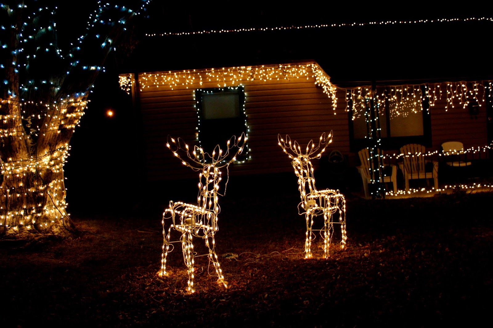 Merry Christmas 2015 Outdoor Light Decoration Images 720p