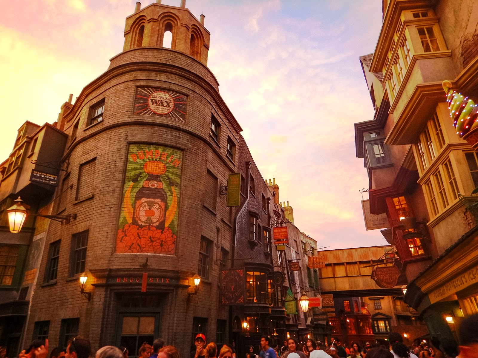 sunsets over diagon alley