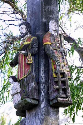 Św. Wawrzyniec i św. Walenty na krzyżu Pawła Brylińskiego w Kowalewie