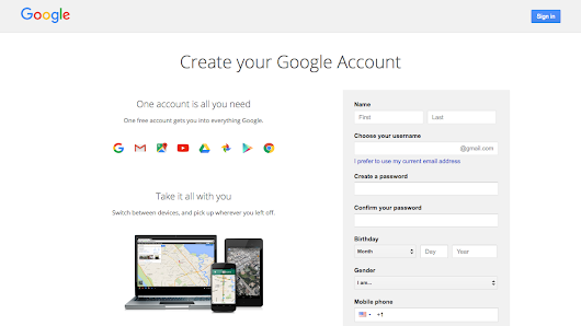 How to create a Google Blogger account?