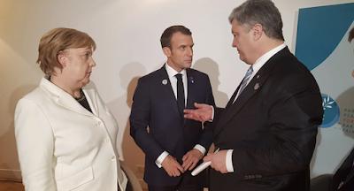 Порошенко зустрівся в Парижі з Меркель, Макроном і Трампом