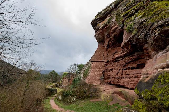 Felsenland Dahn  Wanderung Burgruine Altdahn – Jungfernsprung 03