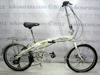 1 Sepeda Lipat Erminio 003 6 Speed Shimano dengan Rangka Aloi dan Rem Cakram 20 Inci