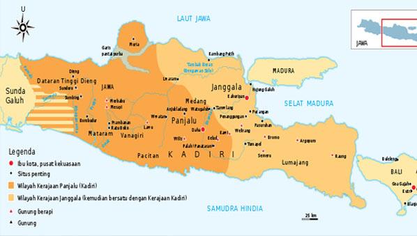 Letak Kerajaan Kediri, Ibukota, dan Peta Wilayah Kekuasannya