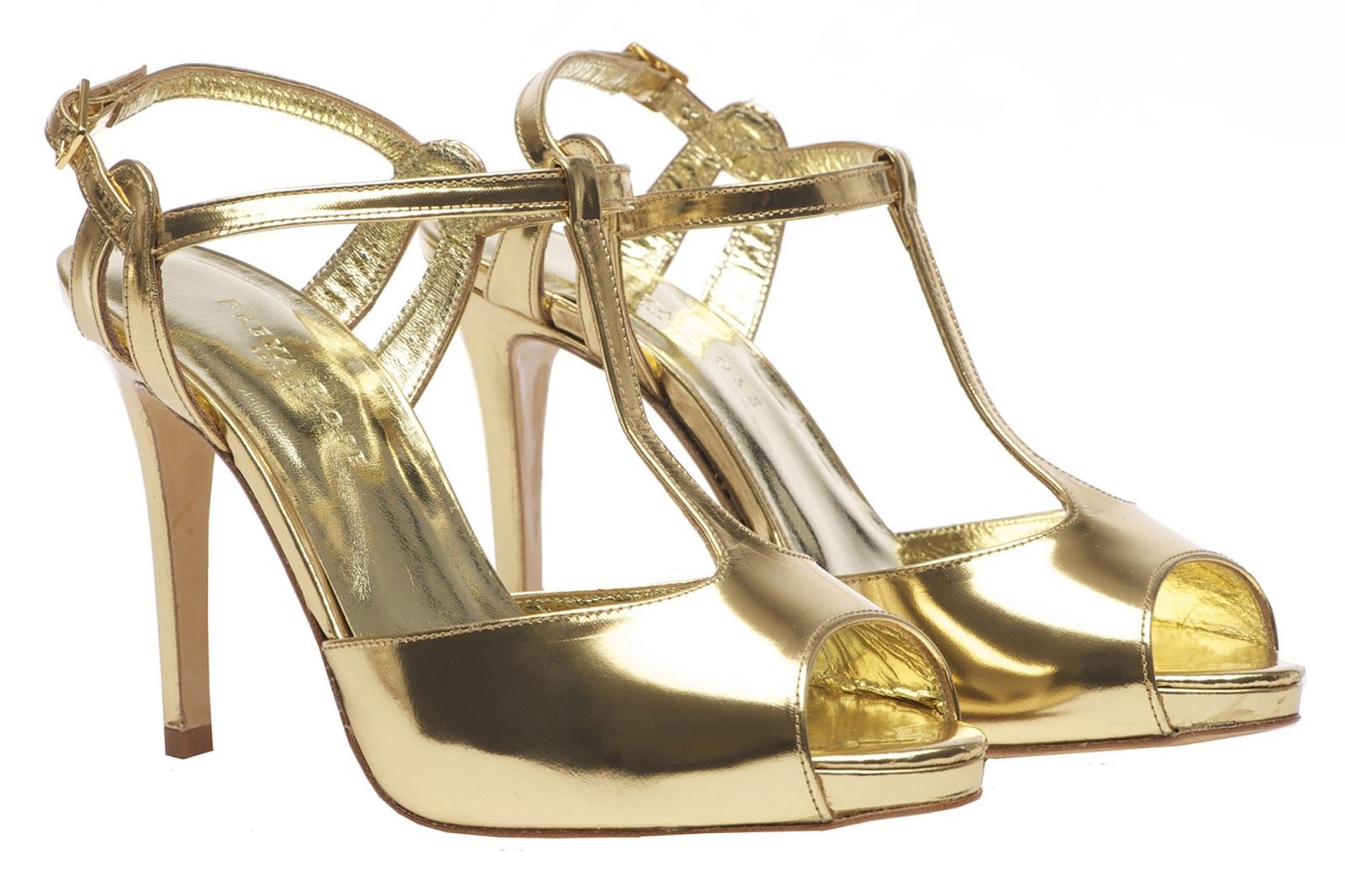 I Heart Wedding Dress: Gold Wedding Shoes