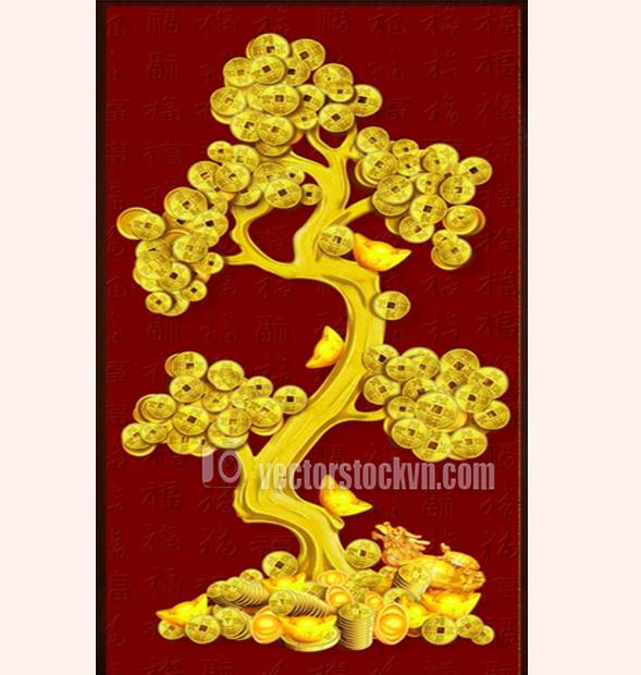 Vector Cây Lộc Vàng
