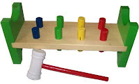 Mainan Edu Toys Kayu Hammer Set 8 Pasak